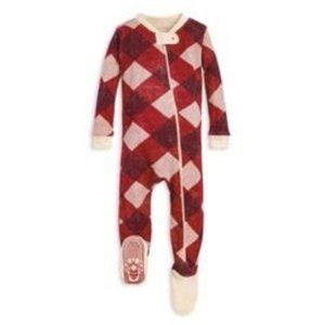 Burt's Bees Baby Abstract/Argyle Footy One-piece